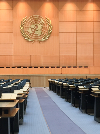 Palais des Nations home of the United Nations in Geneva Switzerland MAIN ASSEMBLY HALL