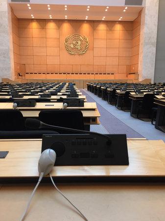 Geneva / Swittzerland - 02 06 2019 : United Nations Office at Geneva UNOG