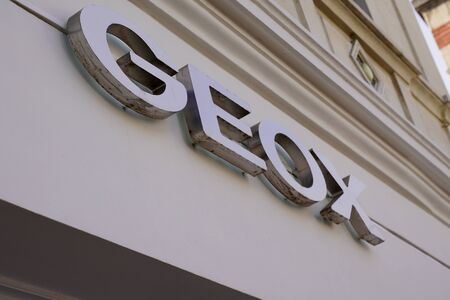 Geox store in Cologne, Germany. Geox is an Italian shoe and clothing brand