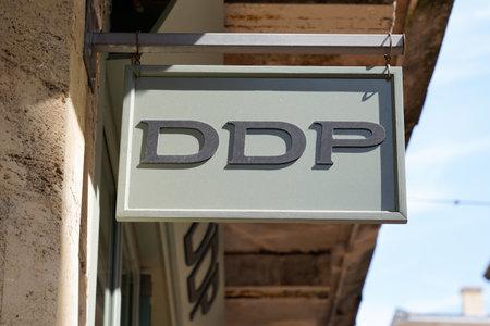 Bordeaux , Aquitaine / France - 09 18 2019 : sign shop DDP exclusively feminine store ready to wear brand headquarters in Bordeaux France Sajtókép