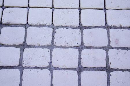 cobbles background of stone floor texture Stok Fotoğraf