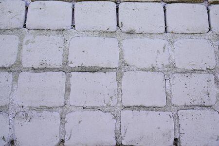 Old cobblestone pavement cobbles background
