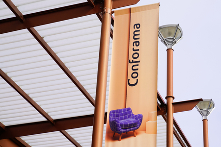 Bordeaux , Aquitaine  France - 10 15 2019 : Conforama store of home shop furnishings retail chain brand logo sign Redactioneel
