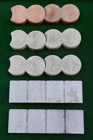 sample of concrete paving slab for laying tracks street square garden Reklamní fotografie