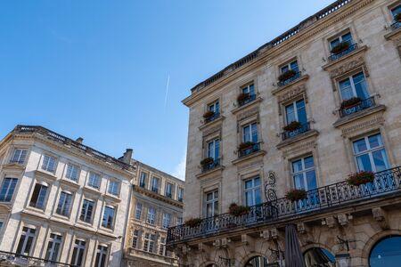 Bordeaux Haussmann Architekturgebäude im Stadtzentrum von Frankreich