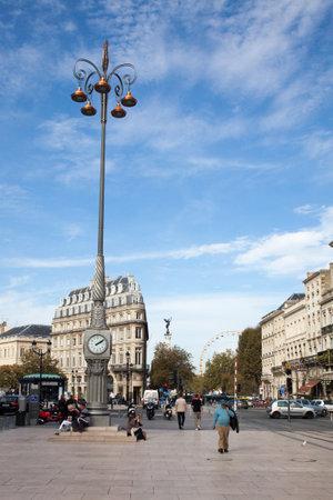 Bordeaux , Aquitaine  France - 10 30 2019 : Bordeaux city center comedy square landmarks France