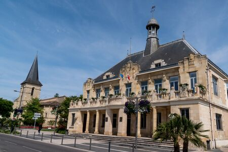 city hall Saint Medard en Jalles Town near bordeaux in Aquitaine region France 免版税图像