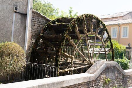 Water Wheels ancient in L'Isle-sur-la-Sorgue Provence France Standard-Bild