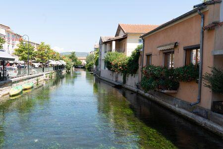 canal river in L'Isle-sur-la-Sorgue in Provence France
