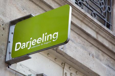 Bordeaux , Aquitaine  France - 11 25 2019 : Darjeeling logo store lingerie collection sign shop