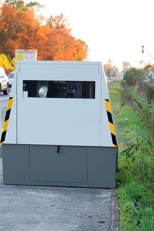 auto radar automatic speed camera on the roadside