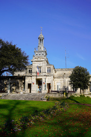 city park of the town hall of Cognac charente france