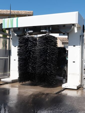 self service car wash rotating carwash brushes Imagens