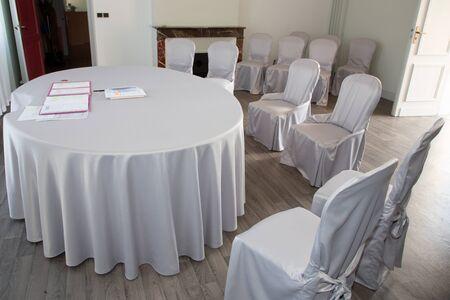 wedding room empty in city hall