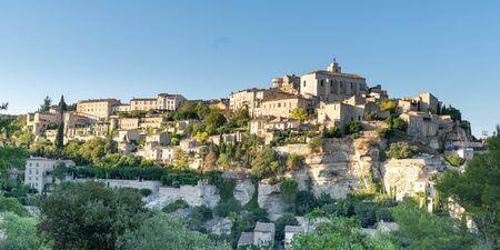 Panoramic view of Gordes city unesco village in France