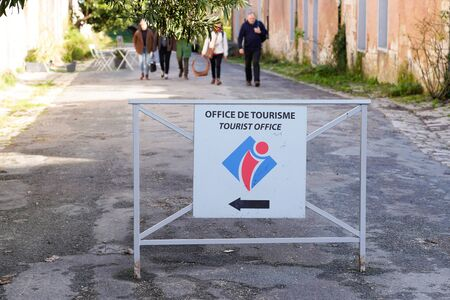office de tourisme france logo sign means information center in french for tourist