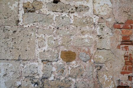 Old brick stone real wall texture background