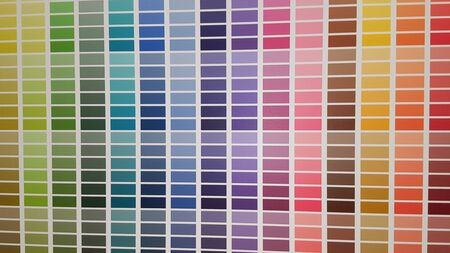 sample colors catalogue paint on wall to help customer choose home color Zdjęcie Seryjne