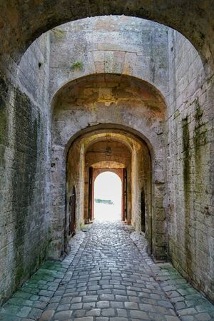 arch entrance Blaye Citadel in Gironde France