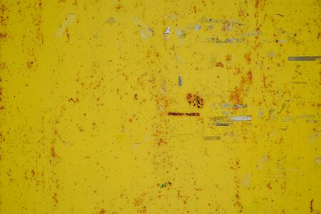 rusty stain yellow steel grungy rust texture background Stock Photo