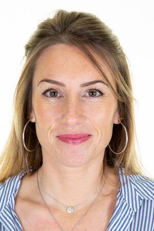 bella donna Foto ufficiale per carta d'identità passaporto internazionale patente di guida