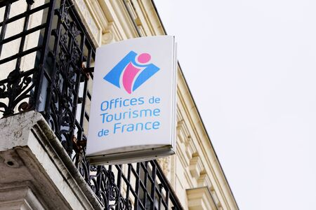 office de tourisme france logo sign wall building means information center in french for tourist