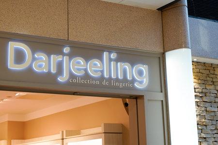 Bordeaux , Aquitaine  France - 01 22 2020 : Darjeeling logo sign shop lingerie women collection store