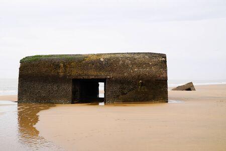 Remnant of German bunker blockhouse blockhaus of the second world war Standard-Bild