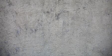concrete wall pattern wide texture background with traces of blows past life Banque d'images - 140990158
