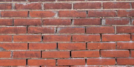 Old red grunge brick masonry wall Background Banque d'images - 140990224