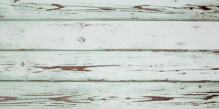 old white green wooden barn vintage paint chipped wood background peeling Stock Photo