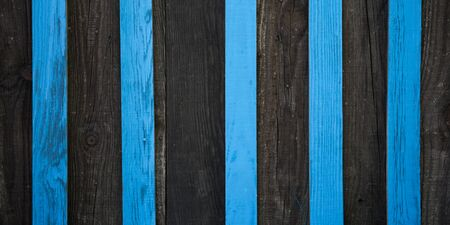 Blue and black wooden wall striped background of wood texture plank Stock Photo