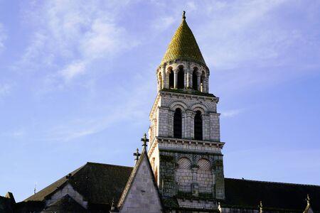 Roman poitiers church Notre Dame la Grande in city Poitier France