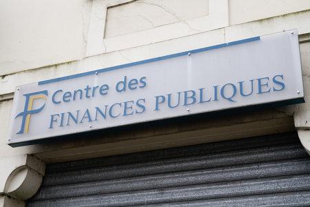 Bordeaux , Aquitaine / France - 02 21 2020 : centre des Finances Publiques logo office French public finance adminstration