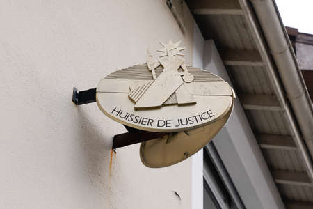 sign logo huissier de justice france means bailiff in French