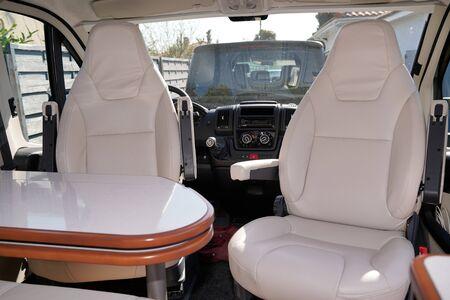 van modern front interior camper by professional dealer motorhome rv vanlife