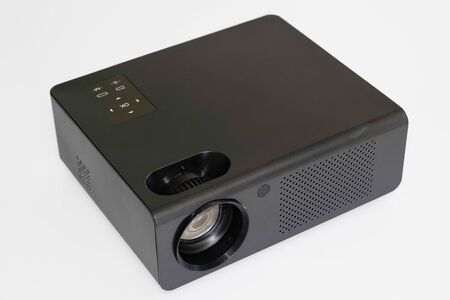 black projector multimedia on white background