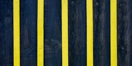 Blue Dark black and yellow wooden plank texture background