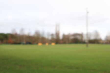 Blurry football rugby soccer stadium for sport background Imagens