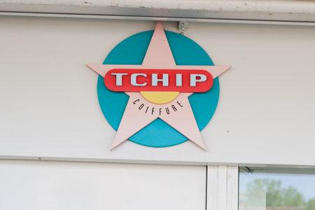 Bordeaux , Aquitaine / France - 05 04 2020 : tchip coiffure logo store sign shop low cost discount hairdresser cheap concept