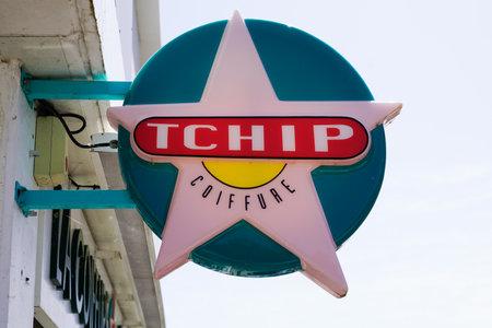 Bordeaux , Aquitaine / France - 05 04 2020 : tchip coiffure logo store sign shop low cost discount brand hairdresser cheap hair dresser