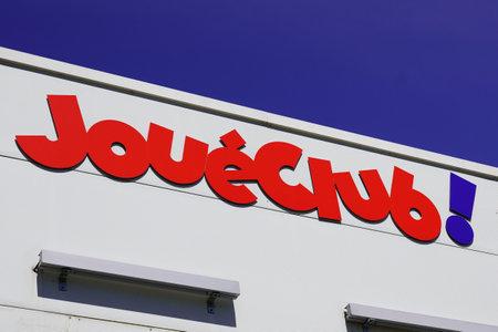 Bordeaux , Aquitaine / France - 05 05 2020 : JouéClub logo sign shop toys retail brand store french brand joue club