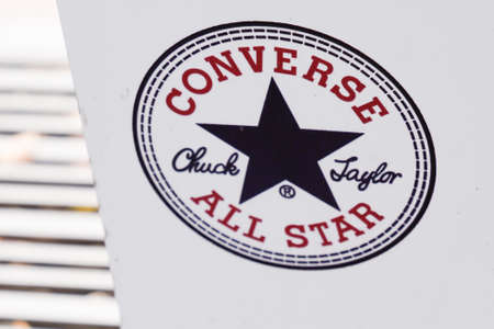 Bordeaux , Aquitaine / France - 05 12 2020 : converse all star chuck taylor logo sign shoes Sneakers Éditoriale