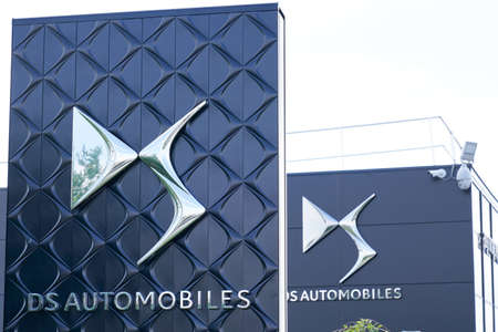 Bordeaux , Aquitaine / France - 05 05 2020 : DS automobiles shop brand logo and sign on car store Editorial
