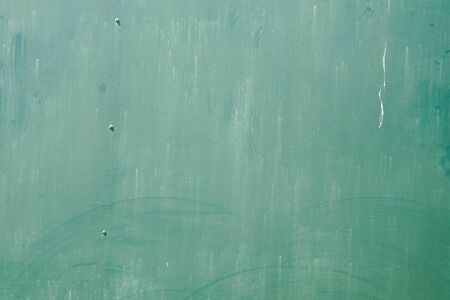 green background of used old metal vintage texture