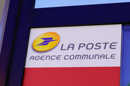 Bordeaux , Aquitaine / France - 05 05 2020 : La Poste agence postale communale logo sign of french country post bank Editorial