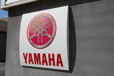 Bordeaux , Aquitaine / France - 05 05 2020 : Yamaha logo sign on motorcycle shop of motorbikes and boat