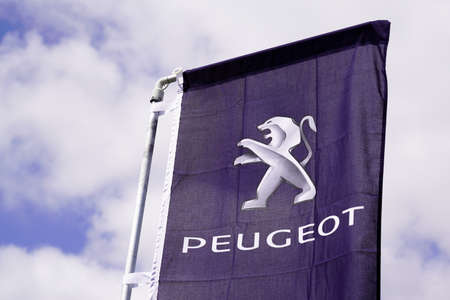 Bordeaux , Aquitaine / France - 06 20 2020 : peugeot logo sign car dealer store dealership automobiles