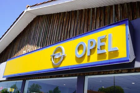 Bordeaux , Aquitaine / France - 06 20 2020 : Opel dealership of car with logo sign