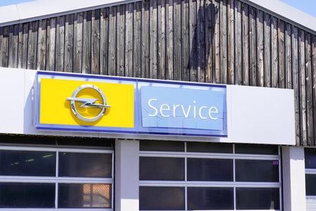 Bordeaux , Aquitaine / France - 06 20 2020 : Opel service logo sign of car dealership of German automobile manufacturer